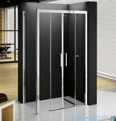 Novellini Elysium Kuadra 2A Podwójne drzwi przesuwne 144cm szkło przejrzyste profil chrom KUAD2A144-1K