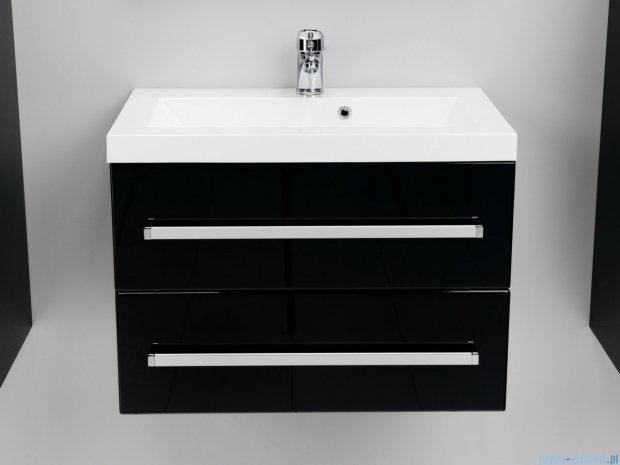 Antado Variete szafka z umywalką, wisząca z dwiema szufladami 60x39x40 czarny połysk FM-C-442/6/2-9017 + UMMC-600X390
