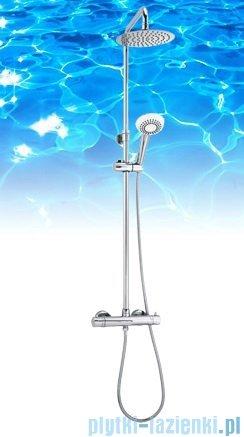 Omnires Y zestaw prysznicowy natynkowy termostatyczny chrom Y1244/6-X