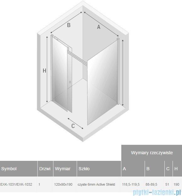 New Trendy Diora kabina prysznicowa 120x90 przejrzyste EXK-1031/EXK-1032