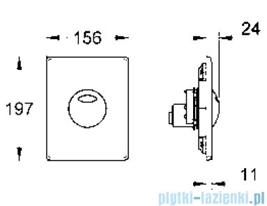 Grohe Skate przycisk uruchamiający kolor: chrom   38862000