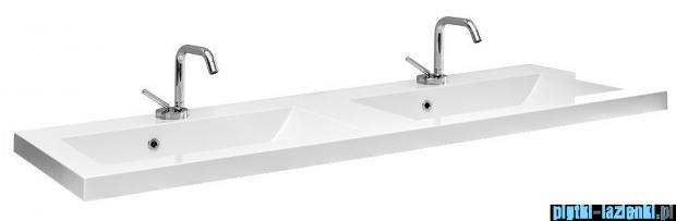 Antado Pacific New szafka z umywalką 119x38x82 biały połysk PF-141/12-WS/47+UMMC-1200x390D