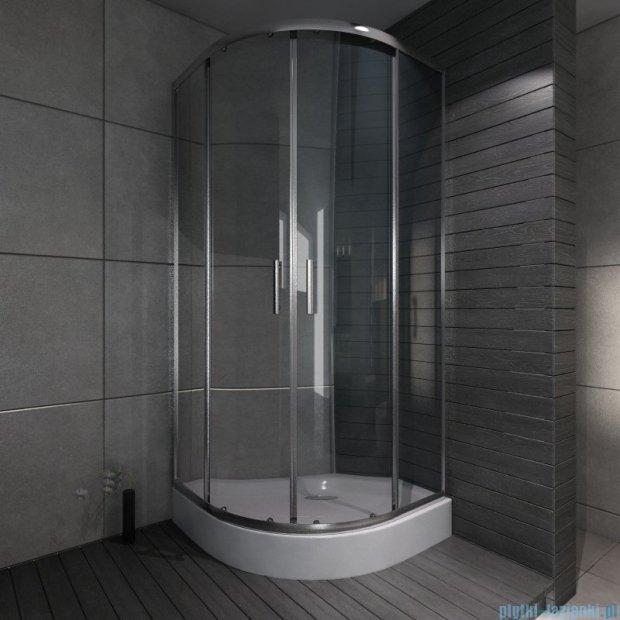 Cersanit Onega kabina półokrągła 80x80x190 cm szkło transparentne S151-001