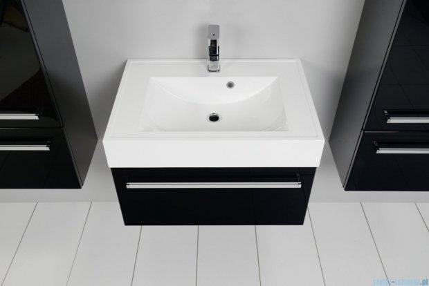 Antado Variete szafka z umywalką, wisząca 70x50x33 czarny połysk FM-442/7GT-9017 + UNA-700