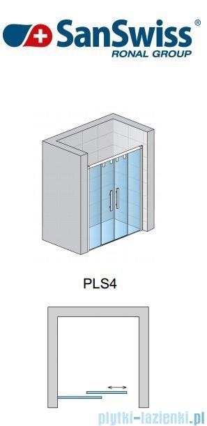 SanSwiss Pur Light S PLS4 Drzwi rozsuwane 180 profil połysk szkło przejrzyste PLS41805007