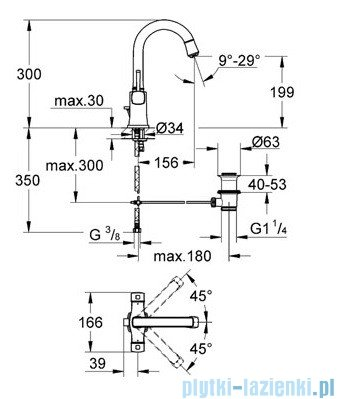 Grohe Grandera Bateria umywalkowa DN15 chrom 21107000