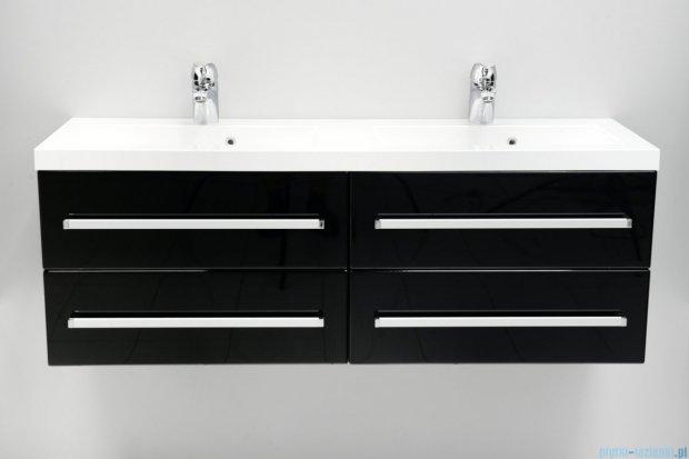 Antado Variete szafka z umywalką, wisząca 120 czarny połysk FM-C-442/6/2-9017 + FM-C-442/6/2-9017 + UMMC-1200x390D