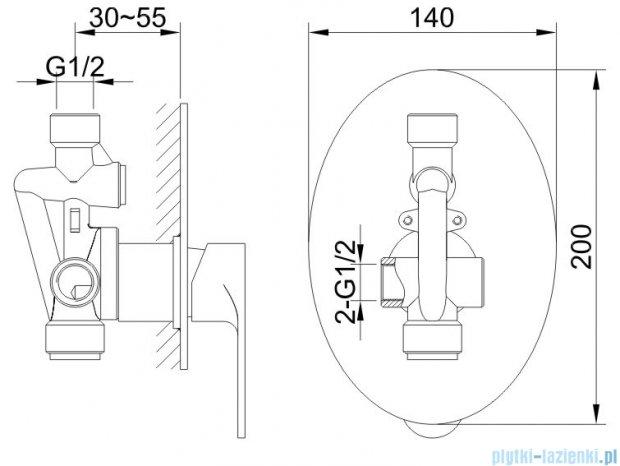 Kohlman Cexams zestaw prysznicowy chrom QW220CR25