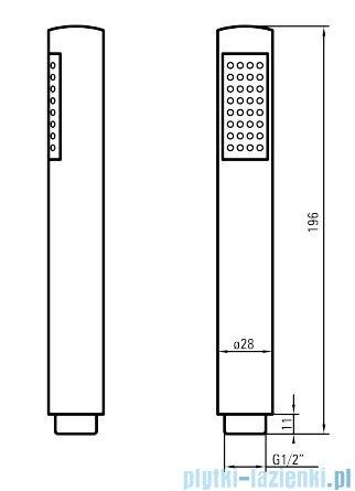 Deante Jaguar Line komplet podtynkowy chrom NAC 09XP