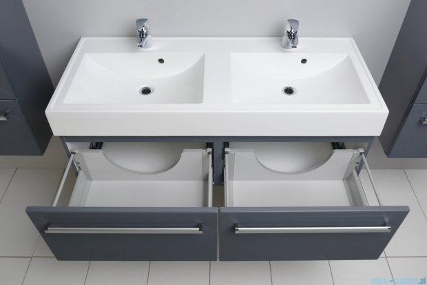 Antado Variete szafka z umywalką, wisząca 120 szary połysk FM-442/6GT-K917 + FM-442/6GT-K917 + UNAM-1204D