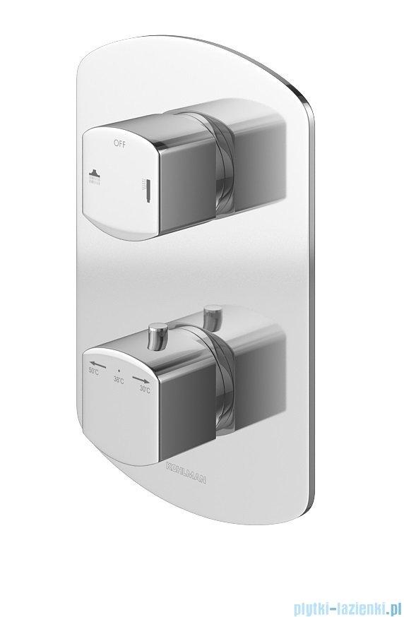 Kohlman Foxal zestaw prysznicowy z baterią termostatyczną chrom QW432FR30