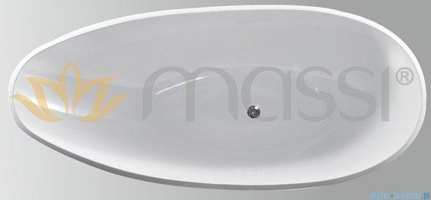 Massi Prestige 190 wanna wolnostojąca 190x85cm biała + syfon MSWA-6906