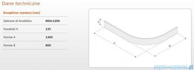 Sanplast Obudowa brodzika OBP 80x120x12,5 cm 625-401-0750-01-000