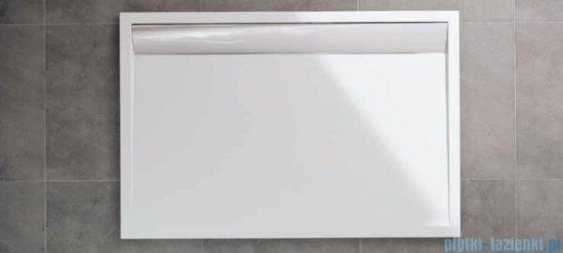 SanSwiss WIA Brodzik konglomeratowy prostokątny 80x90cm biały/czarny WIA800900604