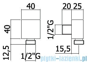 Paffoni Level Przyłącze podtynkowe kątowe ZACC238