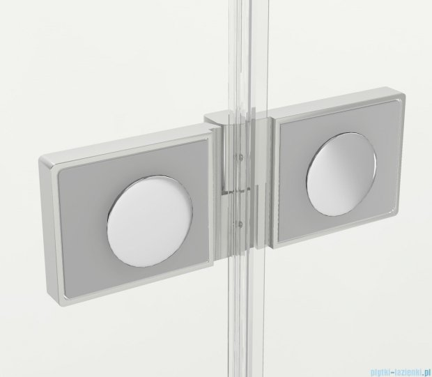 New Trendy New Soleo Plus drzwi wnękowe bifold 120x195 cm przejrzyste Prawe D-0154A/D-0095B