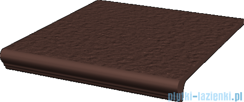 Paradyż Natural brown duro klinkier stopnica z kapinosem prosta 30x33