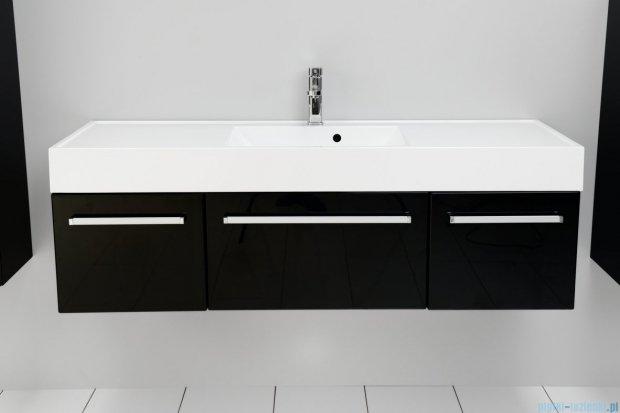 Antado Variete szafka z umywalką, wisząca 140 czarny połysk 2 x FM-442/4GT-9017 + FM-442/6GT-9017 + UNAM-1404C
