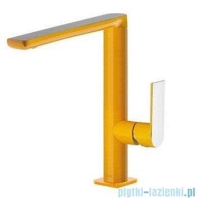 Tres Loft Colors Bateria umywalkowa z korkiem automatycznym kolor żółty 200.205.02.AM.D