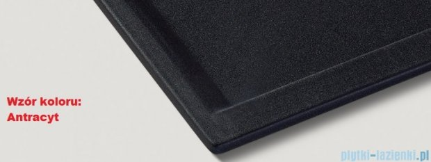 Blanco Zenar 45 S  Zlewozmywak Silgranit PuraDur komora prawa kolor: antracyt z kor. aut. i jesionową deską do krojenia 519210
