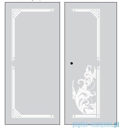 Kerasan Retro Kabina kwadratowa lewa szkło dekoracyjne piaskowane profile chrom 90x90 9147P0