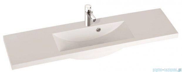 Marmorin umywalka nablatowa Talia 120, 120 cm bez otworu biała 270120022010