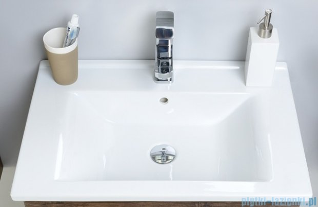 Antado Variete ceramic szafka z umywalką ceramiczną 2 szuflady 62x43x50 wenge FDM-AT-442/65/2+UCS-AT-65