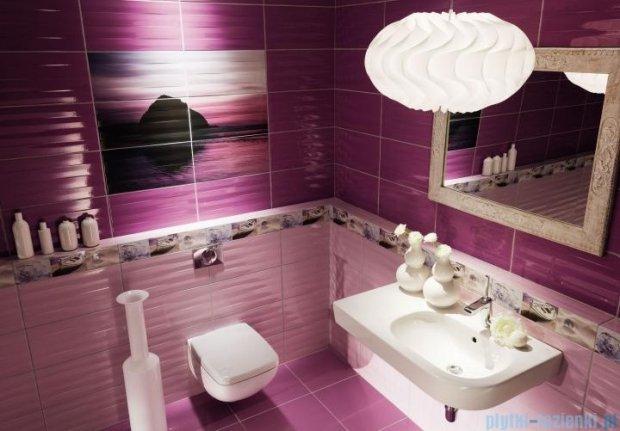 Tubądzin Maxima violet 1 dekor ścienny 6-elementowy 67,3x89,8