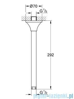 Grohe Rainshower® Grandera™ przepust stropowy chrom/złoty 27982IG0