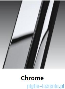 Novellini Drzwi do wnęki z elementem stałym GIADA G+F 126 cm prawe szkło przejrzyste profil chrom GIADNGF126D-1K