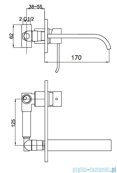Kohlman Axis podtynkowa bateria umywalkowa QW185N