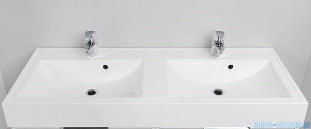 Antado Cantare szafka z umywalką 120x50x33 szary połysk 2xFSM-342/6GT-56/56+UNAM-1204D