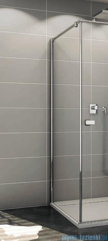 SanSwiss Melia MET1 ścianka lewa wymiary specjalne 30-90/do 200cm pas satynowy MET1PGSM11051