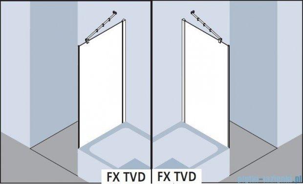 Kermi Filia Xp Ściana boczna skrócona obok wanny, szkło przezroczyste z KermiClean, profile srebrne 90x175cm FXTVD09017VPK