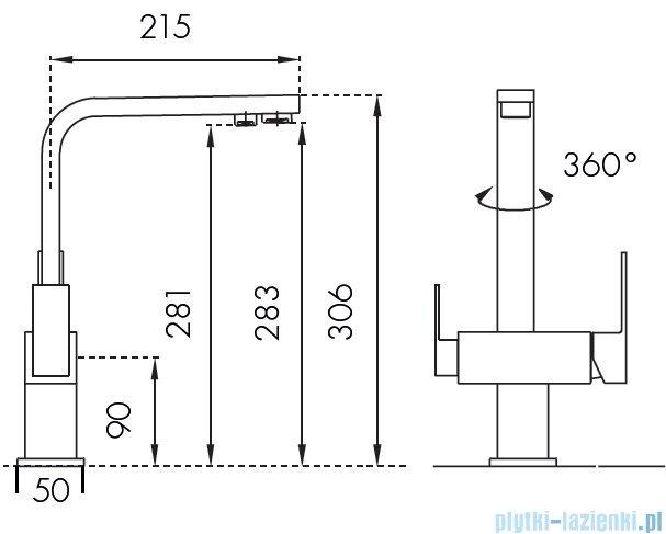 Blue Water Taupo bateria kuchenna z podłączeniem do wody filtrowanej chrom 5901730610833