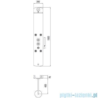 Tres Lex-b Panel wannowy z termostatem kolor biały 1.93.124