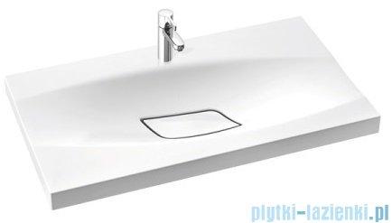 Marmorin Noel 800 umywalka wpuszczana w blat 80x45 bez przelewu i bez otworu na baterie biała 580080020010