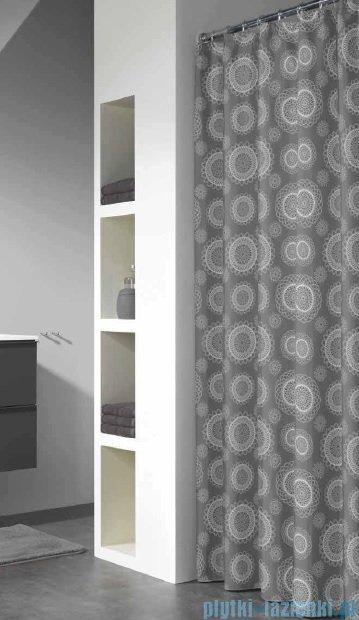 Sealskin Lace Grey zasłona prysznicowa vinylowa 180x200cm 210801314