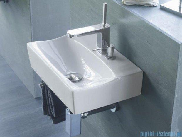 Bathco umywalka podwieszana z dozownikiem relingiem Rhin 42,5x30 cm 4908/D