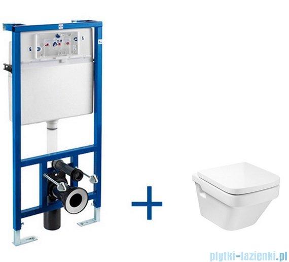 Roca Dama-n Stelaż podtynkowy Duplo + miska WC podwieszana Dama-N A89009000D
