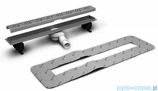 Radaway Steel Odpływ liniowy 115x8cm 5L115B,5R115S