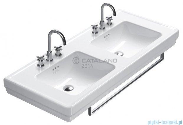 Catalano Canova Royal 125 umywalka podwójna 125x54 biała 1125CV00