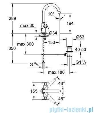 Grohe Atrio jednootworowa bateria umywalkowa DN 15 chrom 21019000