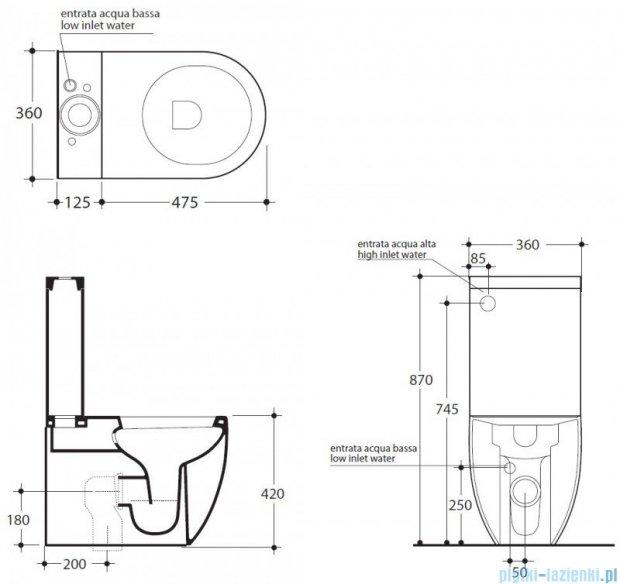 Kerasan Flo Zestaw WC kompakt (3117,3181,7509,318701)