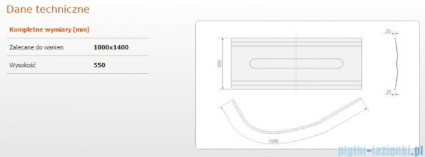 Sanplast Obudowa do wanny Comfort, OWAU/CO 100x140 cm 620-060-0190-01-000