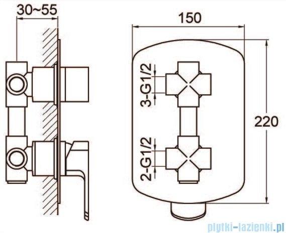 Kohlman Foxal zestaw prysznicowy chrom QW211FQ35