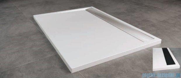SanSwiss WIA Brodzik konglomeratowy prostokątny 90x120cm biały/czarny WIA901200604