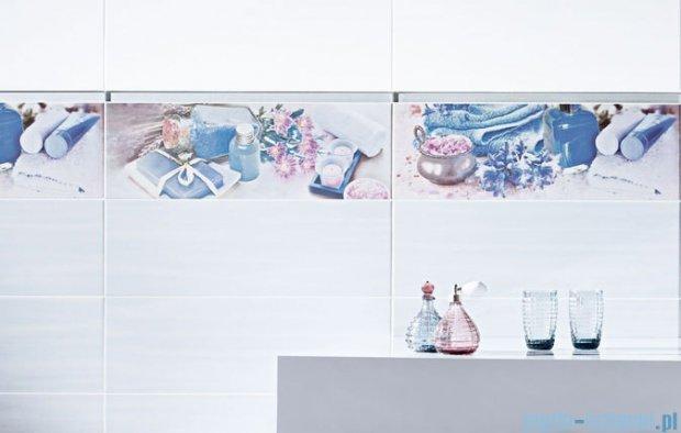 Paradyż Chiara bianco A inserto szklane 20x60