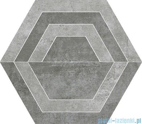 Paradyż Scratch grys C heksagon 26x29,8