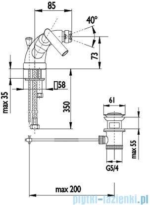 KFA HARMONIC Bateria bidetowa stojąca 347-025-00